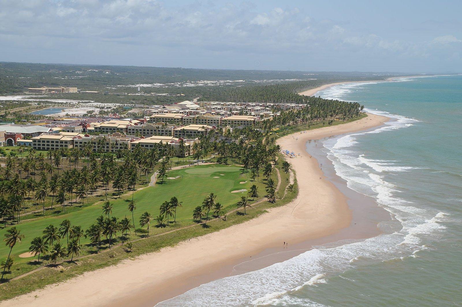 Vista aérea do Iberostar, Praia do Forte - Bahia.