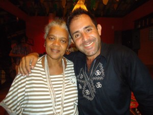 Nati com Joaquim Carvalho