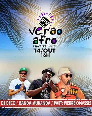 Verão Afro Praia do Forte: Banda Mukanda convida Pierre Onassis