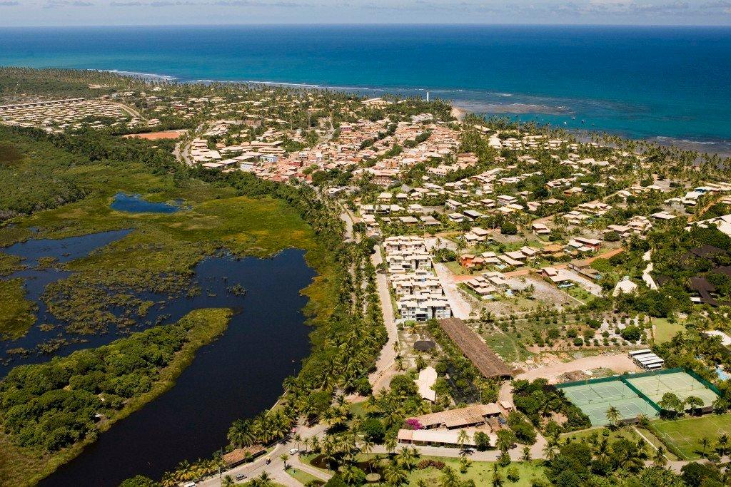 Vista aérea da Praia do Forte